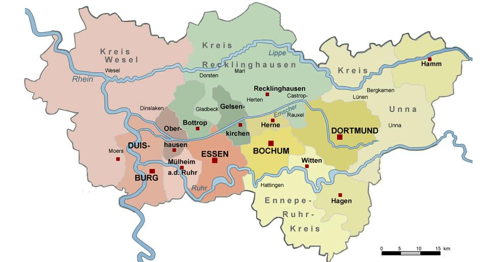 Bildergebnis für oberhausen ruhrgebiet landkarte